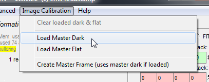 Applying dark frame correction to a flat field