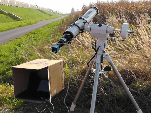 Telescope prepared for camera solar observations
